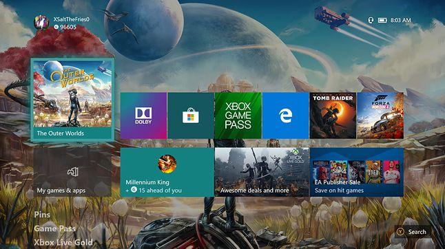 Tak wygląda teraz ekran główny konsoli Xbox One, fot. Jakub Krawczyński