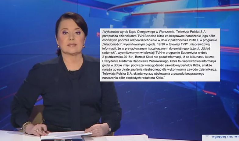 """""""Wiadomości"""" przeprosiły dziennikarza. Ale... w stylu TVP"""