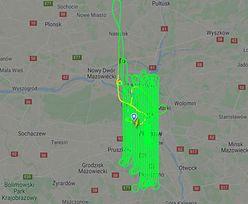 Ten samolot godzinami krążył nad Warszawą. Mieszkańcy zaniepokojeni