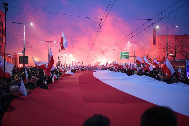 W Marszu Niepodległości uczestniczyło 250 tys. osób