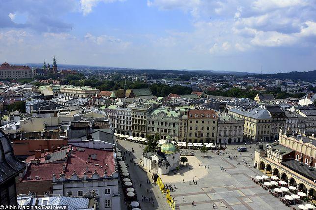 Kraków, widok z Kościoła Mariackiego