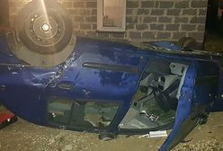 Małopolskie. Pijany ojciec rozbił auto. W środku 3 dzieci