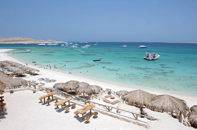 Plaże w Egipcie są przepiękne