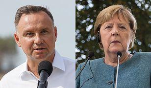 """Duda tłumaczy się z braku spotkania z Merkel. """"Jestem zdumiony"""""""
