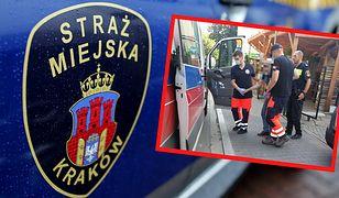 Kraków. O włos od tragedii. 80-latek uratowany przez strażników miejskich