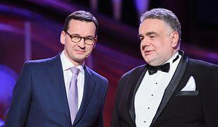 Premier Mateusz Morawiecki i Tomasz Sakiewicz
