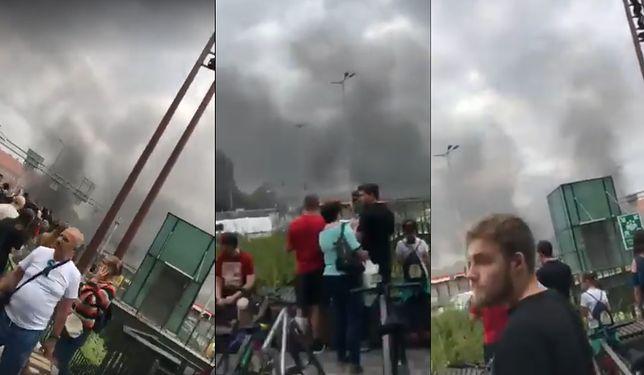 Pożar w Gdańsku. Kłęby dymu nad galerią handlową Forum. Klienci i pracownicy zostali ewakuowani