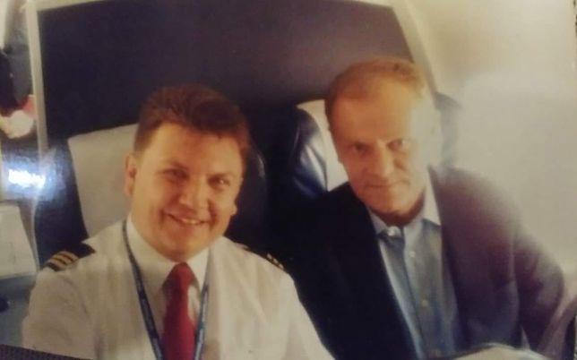 Jacek Balcer i Donald Tusk