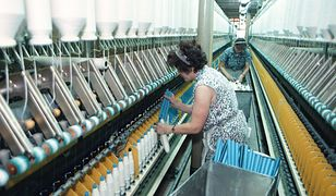 Pracujące włókniarki, Łódź - 1993 r.