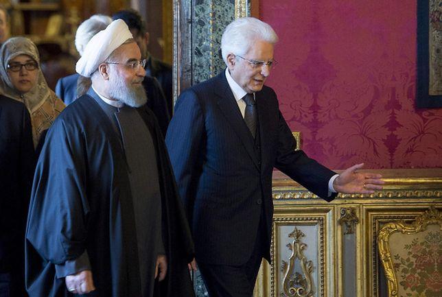 Hasan Rowhani podczas wizyty we Włoszech