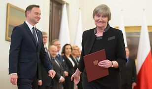 Prezydent Andrzej Duda i dr Barbara Fedyszak-Radziejowska.