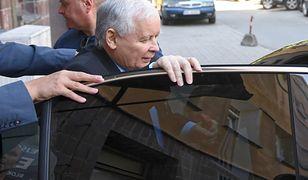 Prezes Jarosław Kaczyński wyleczył infekcję kolana