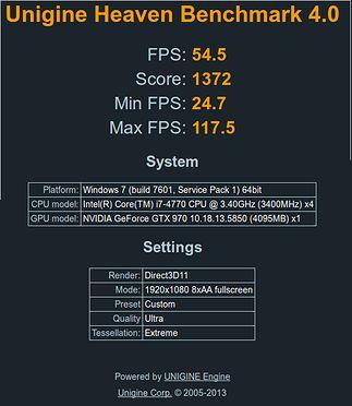 Test Extreme z rozdzielczością 1920x1080 i Direct3D11