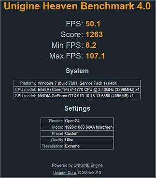 Test Custom z rozdzielczością 1920x1080 i OpenGL