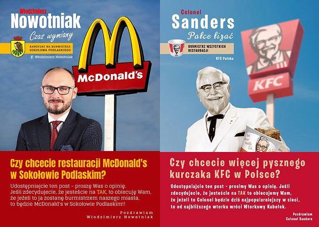 KFC odpowiada na wyborczą obietnicę otworzenia McDonalda. To hit