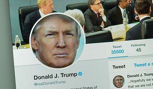 Donald Trump często korzysta z Twittera