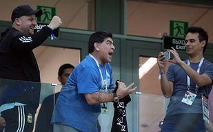 Maradona wariował na trybunach. Jest nagranie