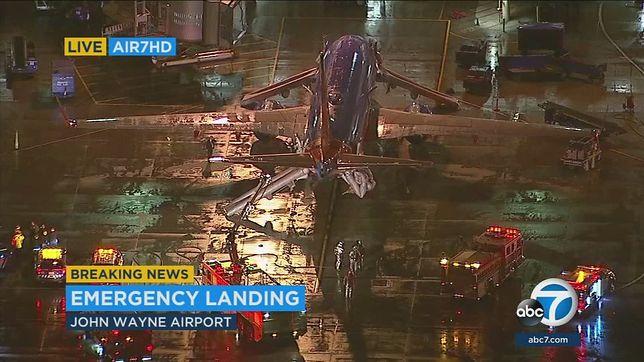Pożar w gotowej do startu maszynie na lotnisku w Los Angeles