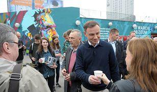 Andrzej Duda podczas kampanii wyborczej w 2015 roku.