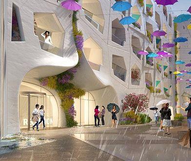 Raining Street w Dubaju - wizualizacja