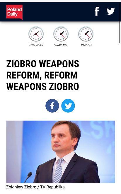 Poland Daily jest niezrozumiały dla anglojęzycznych czytelników