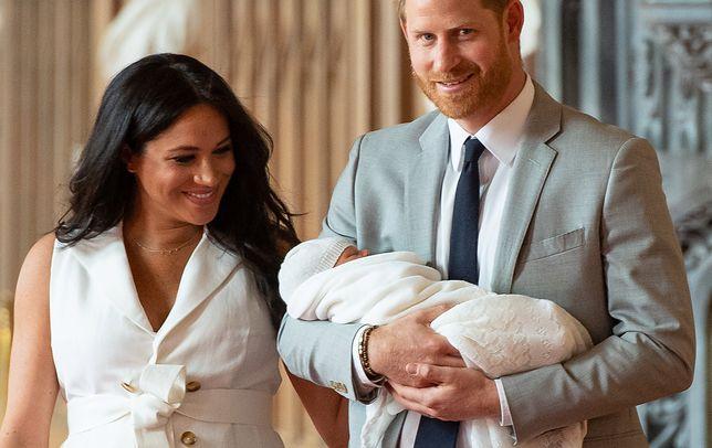 Meghan Markle i książę Harry z Archiem