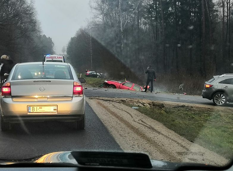 Tragiczny wypadek na Podlasiu. Nie żyją dwie osoby