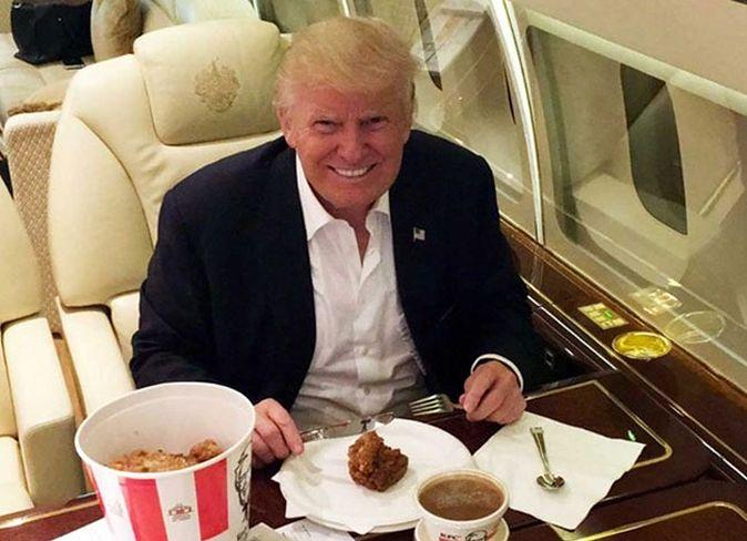 Donald Trump lubi fast food'y