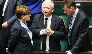 Beata Szydło, Jarosław Kaczyński i Mariusz Błaszczak