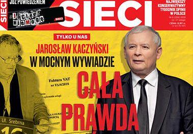 """W tygodniku """"Sieci"""" Jarosław Kaczyński tłumaczy się z taśm i kontrowersji wokół spółki Srebrna."""