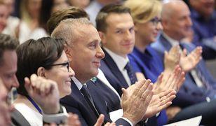 Grzegorz Schetyna na Radzie Krajowej PO.