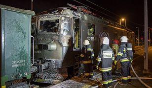 Kluczbork. Na stację kolejową wjechała paląca się lokomotywa