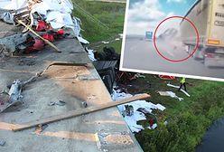 Nagranie z S8. Tragiczny wypadek. TIR spadł z wiaduktu uderzony przez BMW