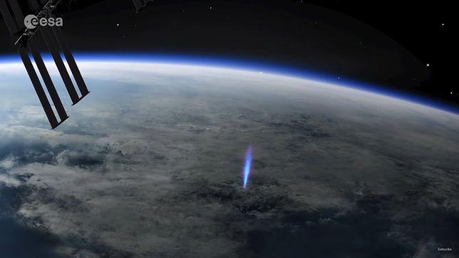 Nietypowy piorun, który było widać z ISS