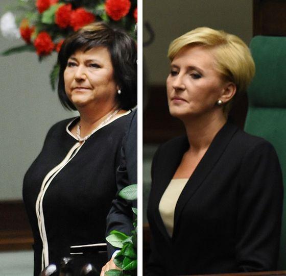 Anna Komorowska i Agata Duda - pierwsze damy na zaprzysiężeniu