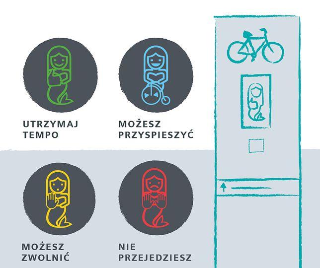 Warszawa. Syrenka wskaże prędkość stołecznym rowerzystom. Specjalne totemy już działają