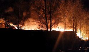 Pożar składowiska odpadów tworzyw sztucznych w Żorach