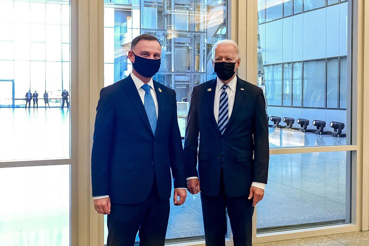 Spotkanie Andrzeja Dudy z Joe Bidenem