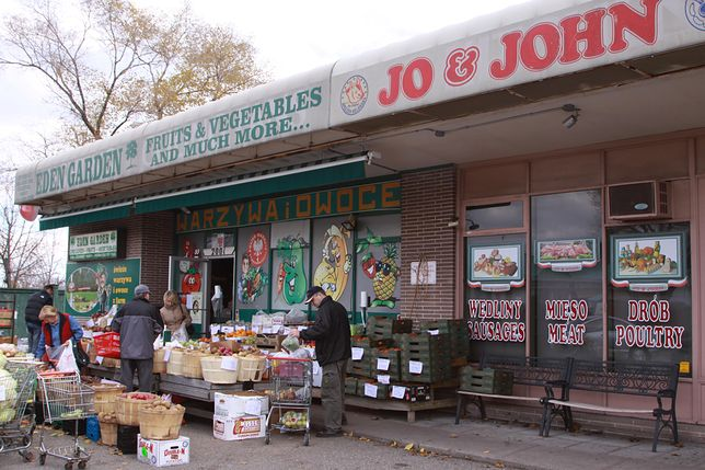Sklep w dzielnicy polskiej w Toronto