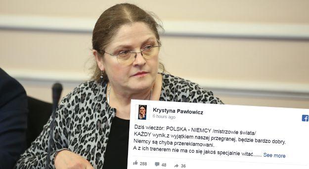 Krystyna Pawłowicz oceniła zachowanie trenera reprezentacji Niemiec