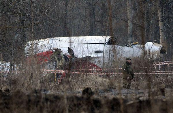 Rozbity rządowy Tu-154M (zdjęcie archiwalne)
