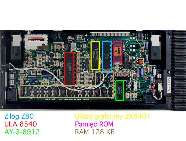 Płyta główna ZX Spectrum + 128K