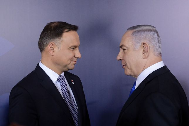 Prezydent Andrzej Duda i premier Izraela Benjamin Netanjahu