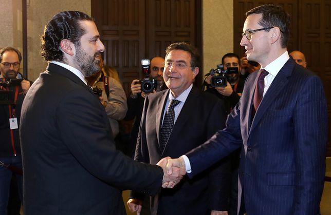 W poniedziałek premier Mateusz Morawiecki spotkał się w Bejrucie z premierem Libanu Saadem Haririm