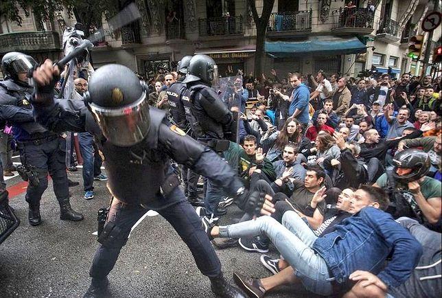 Tak wyglądał przebieg niedzielnego referendum w Katalonii.
