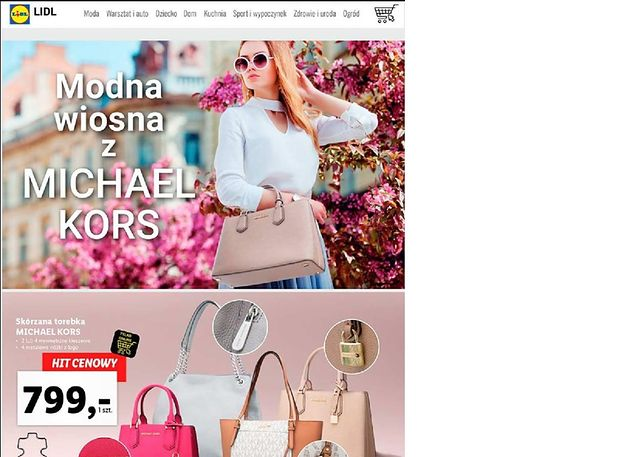 13 maja do oferty Lidla trafią torebki marki Michael Kors