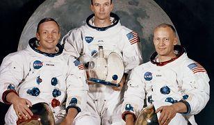 Misja kosmiczna Apollo11 w Google Doodle. Członkowie misji: Neil Armstrong (L), Michael Collins (C), Edwin Aldrin (P)