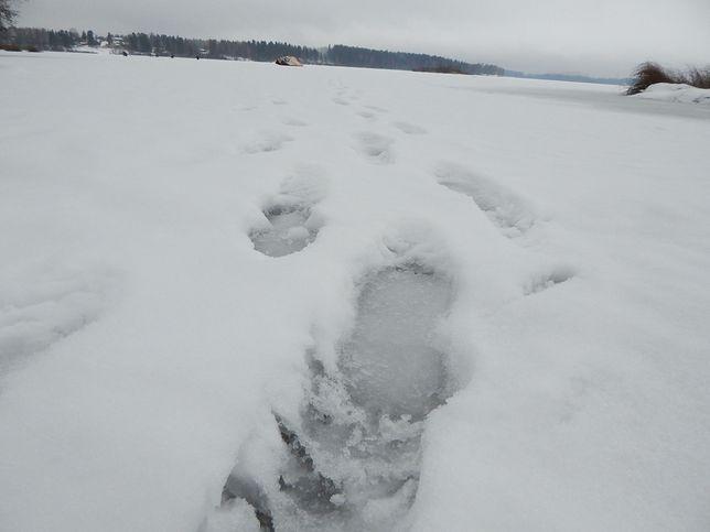 Warstwa lodu była zbyt cienka, żeby mogła służyć za ślizgawkę
