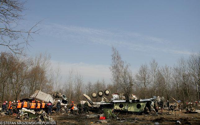 Miejsce katastrofy samolotu prezydenckiego Tu-154M.
