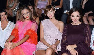 Falbaniasta Ola Żebrowska na Flesz Fashion Night. Wiosenna kreacja na jesienny wieczór